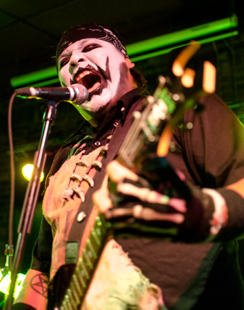 HAUNTED CORPSE – FRIGHTENSTEINThe most impressive part of singer Haunted Corpse's stage performance is the 180 degree spin he takes from his normally calm quiet demeanor off stage to the commanding pr